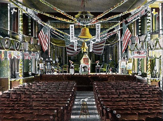 The interior of the Memorial Opera House Staged For A Theodore Roosevelt Rally